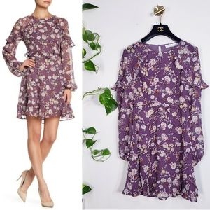 New ASTR Delicate Floral Fit & Flare Mini Dress XS